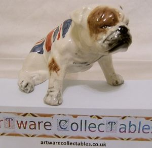 Carlton Ware British Bulldog Union Flag Edition -'M's' Favourite Dog - SOLD